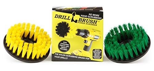 Kitchen Accessories - Pot Cleaning- Cleaning Supplies - Drill Brush - Power Scrubber Kitchen and Bathroom Brush Set - Spin Brush - Bath Mat - Soap Scum, Mineral Deposits, Calcium, Hard Water Stains
