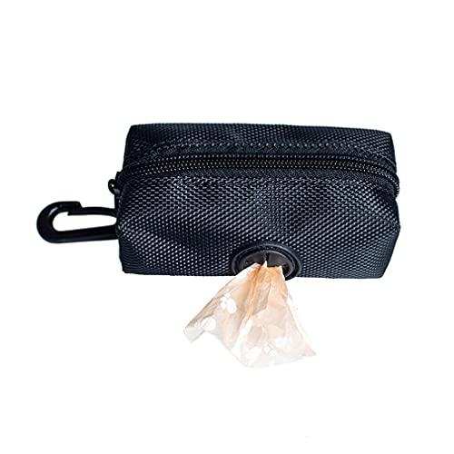Pet Puppy Cat Pick Up Poop Bag Dispensador Portátil Dog Poop Waste Bag Holder Negro