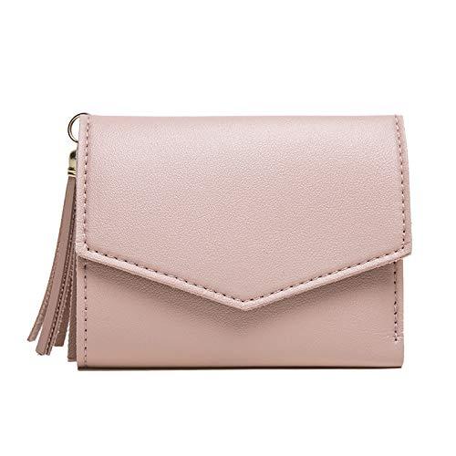 Yi-xir Bolso favorito para mujer, sin retención, versión femenina, de la borla pequeña, simple y simple monedero para mujer, mochila diagonal (color: rosa, tamaño: mediano)
