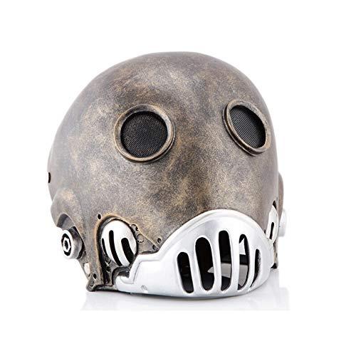 LLZK Maske Clockworker COS Hölle Baron Weihnachten Halloween Horror Flamme Man Krunam Hellboy Helm, Maskerade-Party-Bar Kostüm Props (Farbe : #2, Größe : 26.5×20.5CM)