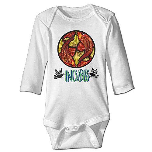 dsfsa Combinaison Bébé Incubus Logo Rock Baby Jumper