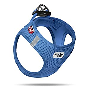 Curli Vest Harness Air-Mesh Dog Harness Pet Vest No-Pull Step-in Harness with Padded Blue S