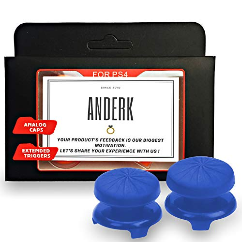 ANDERK Joystick Thumbstick Caps - Accesorios de controlador de juego, Accesorios Esenciales para el Juego mando PS4 [playstation_4]