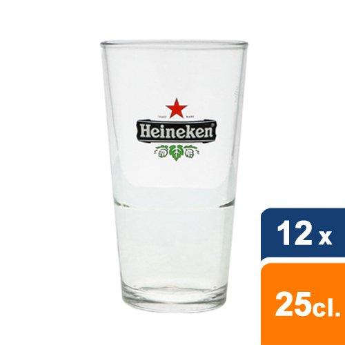 Heineken voerman bierglas 25 cl - 12 stuks