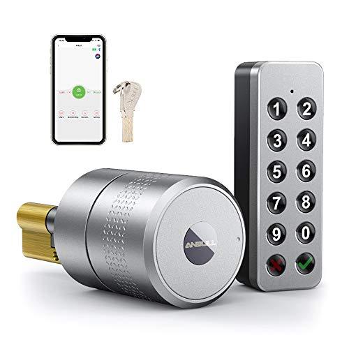 Anbull Smart Lock Elektronisches Türschloss, Einmaliger digitaler Codeermöglicht sperren aus der Ferne, Steuerung via Bluetooth, App für iPhone und Android, Smart Home