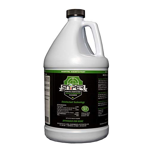 SNiPER Hospital Disinfectant, Odor Eliminator, and All-Purpose Cleaner (1 Gal). Ideal to Spray, Fog, Wipe or use an Electrostatic Sprayer.