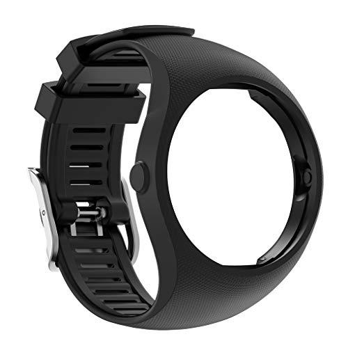 Pulseira de silicone de substituição para relógio Polar M200 Smart Watch Huhudde