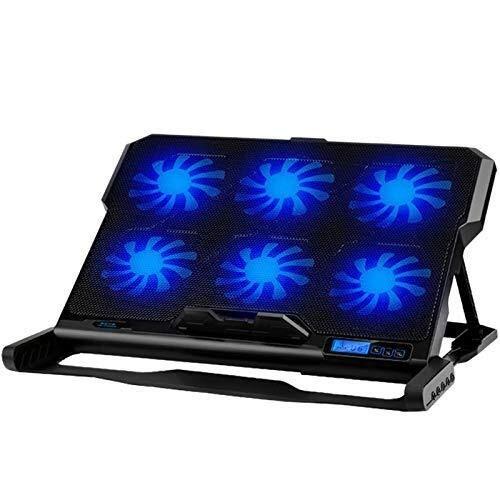 LIPENLI Laptop Cooling Pad Enfriador portátil Seis Ventilador de refrigeración y 2 Puertos USB Laptop Cooling Pad Notebook Stand Durante 13-16 for el Ordenador portátil