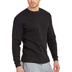 Men's Heavy or Medium Weight Premium Waffle Thermal Long Sleeve Crewneck Shirt