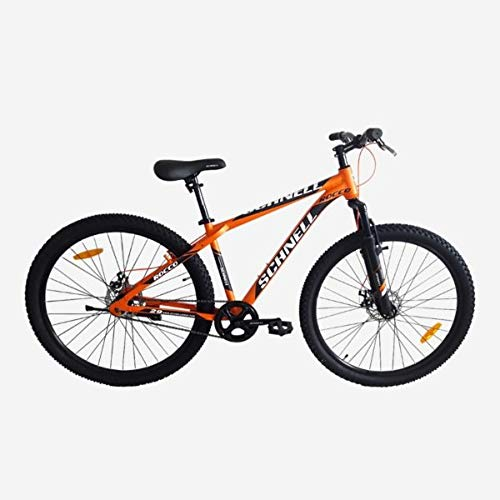 Schnell Rocco 29 |21 Shimano Gears Aluminum Alloy | Front Shocker| Double DISC Mountain Bike for Men and Women , Orange