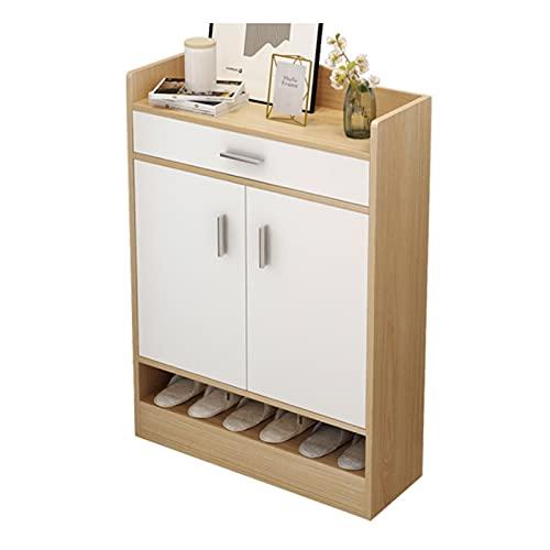 Zapatero grande de 4 niveles, estante de zapatos, estante de madera para zapatos, organizador de zapatos para entrada, pasillo (color: A, tamaño: 100 cm)