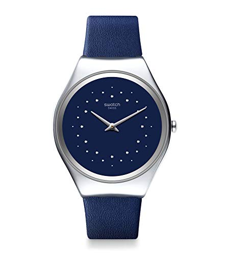 Swatch Reloj Unisex Adulto de Cuarzo analógico con Correa en Cuero Genuino SYXS127
