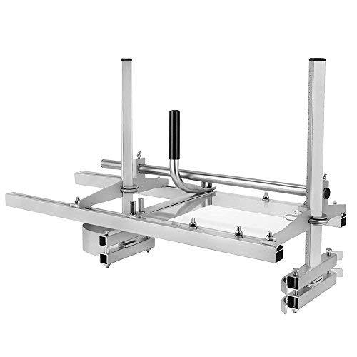 HUKOER 90 CM Fresatura planking del mulino a motoseghe, segheria a catena da 36 pollici portatile sega a catena mulino in acciaio inox saldatura a mega sega 14'-36' barra di taglio legname