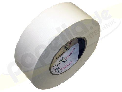 Gerband Gewebe-Klebeband weiss, glänzend 50mm x 50m