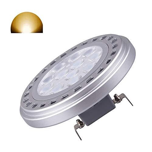 AR111 reflector foco luz bombilla 15 W G53 Base 30 ° Beam ángulo de visión luz blanca cálida3000 K SMD 15LEDs AC DC12 V Voltaje 1200 lm ES111 AR111 Proyector Tracklight Downlight Reflector Luz