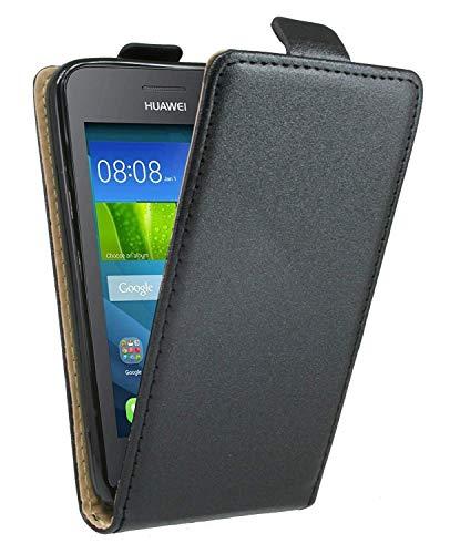 ENERGMiX Klapptasche Schutztasche kompatibel mit Huawei Y360 in Schwarz Tasche Hülle - 2