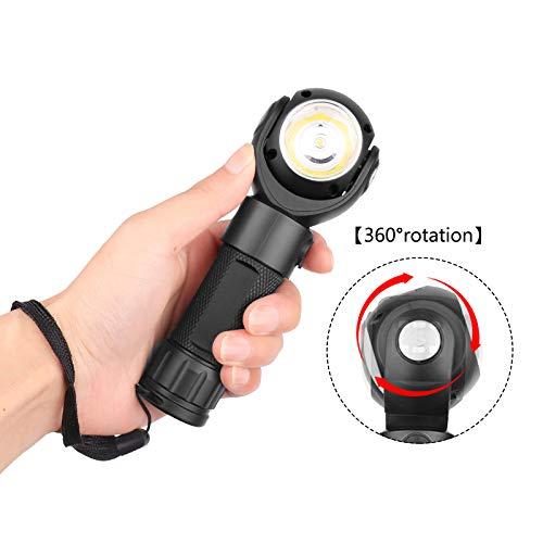 STHfficial Led-zaklamp 360 graden T6 + Cob lantaarn 8000 lm waterdichte magneet mini verlichting LED zaklamp buiten 18650 of 26650 batterij