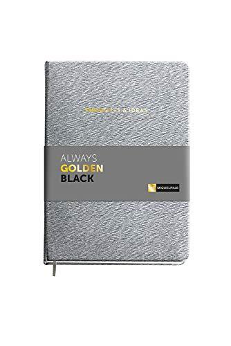 Miquel Rius - Cuaderno con Textura - Tamaño A5, 160 Hojas Lisas de 100 gms, Color Gris