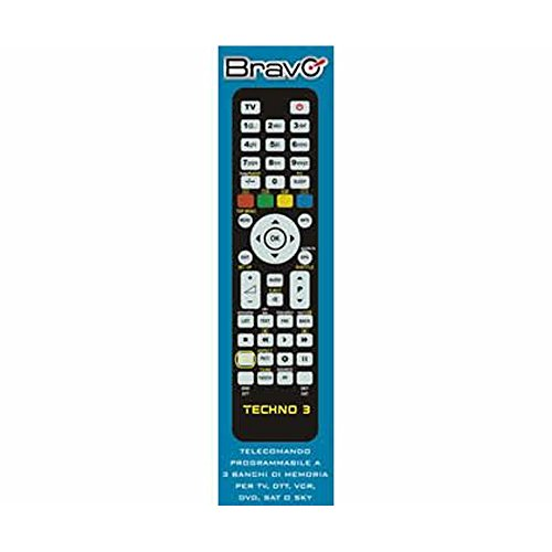 Bravo TECHNO 3 telecomando IR Wireless DTT,DVD/Blu-ray,SAT,TV,VCR Pulsanti - Telecomandi (DTT,DVD/Blu-ray,SAT,TV,VCR, IR...