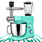 SanLidA 6-IN-1 Stand Mixer, 9.5 Qt. 10-Speed Multifunctional Electric Kitchen Mixer with 9 Accessories for Most Home Cooks, SM-1507BM, Mojito Green