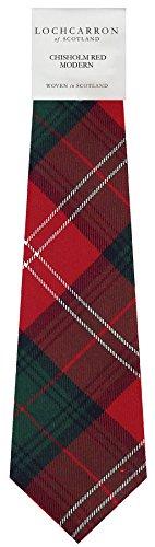 I Luv Ltd Gents Neck Tie Chisholm Modern Tartan Lightweight Scottish Clan Tie