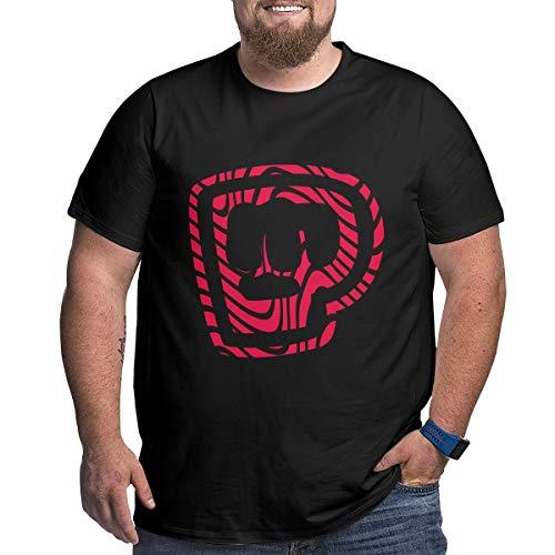 Pewdiepie Merch T-Shirts Herren Kurzarm Tops Plus Größen Xl-6xl Cotton Tee Black 5XL