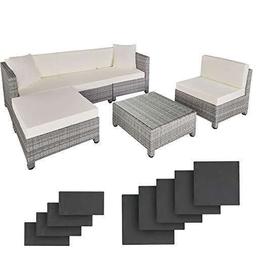 TecTake 800804 Conjunto de Muebles de Jardín en Poliratán, 2 Sillones +...