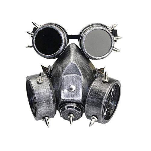 MASSK Halloween hars masker voorruit gasmasker zilver, Horror Ghost Scary, Cosplay Prank masker gezicht Scary partij, bar props, bar props