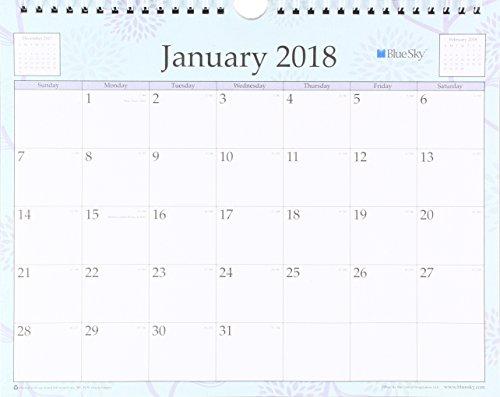 "Blue Sky 2018 Wall Calendar, Twin-Wire Binding, 11"" x 8.75"", Rue Du Flore"