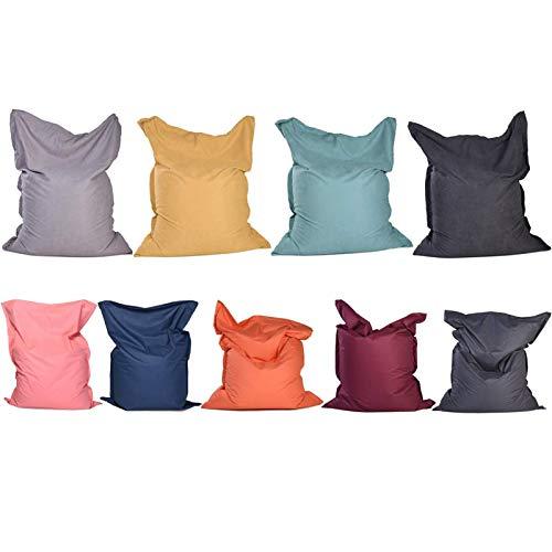 JSONA Lazy Slipcover Quadratischer Sitzsackbezug ohne Füllstoff, abnehmbare und waschbare Dekoration Moderner Tatami Soft Chair Sofabezug, 180X140cm / 70.87X55.12, Oxford Pink