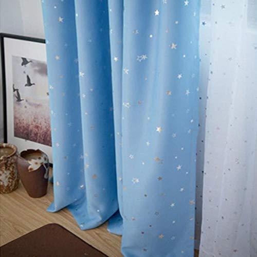 Shiny Stars Kinderen Doek Gordijnen Voor Kinderen Jongen Meisje Slaapkamer Woonkamer Blauw/Roze Verduisterende Cortinas Maatwerk Drape wp123# 30, Kleur 5 Doek, 1 st W400CM X H260CM