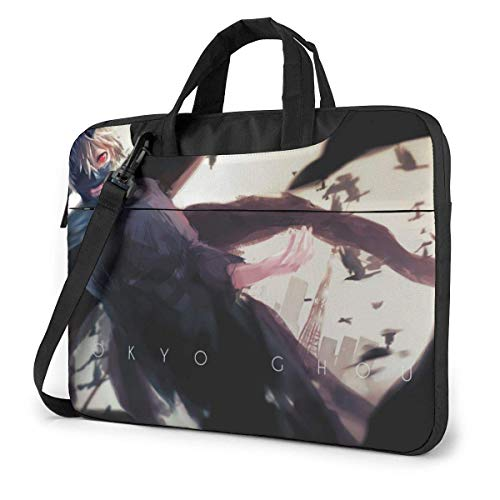 XCNGG Tokyo Ghoul Anime Laptop Hombro Messenger Bag Tablet Computadora Almacenamiento Mochila Bolso 13 Pulgadas