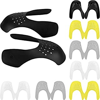 8 Pairs Anti-Wrinkle Shoes Crease Protector Prevent Sneaker Shoes Crease (Black, White, Gray, Yellow)