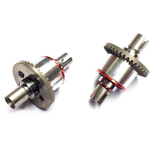 Exanko 2 Teilige Voll Metall Ganz Metall Differential Getriebe Upgrade Teile für 144001 124019 124018 RC Auto Ersatz Teile
