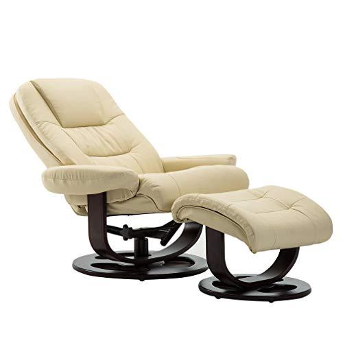 Krispich Fernsehsessel mit Hocker Relaxsessel TV Sessel Loungesessel Leder Kippbar Liegesessel...