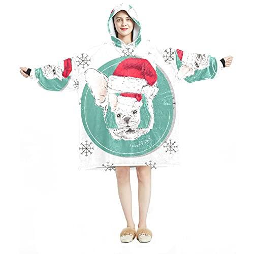 Sudadera con capucha de gran tamaño, manta de franela sherpa, con bolsillo para adultos y hombres, mujeres, lindo perro perro perro ángel amor, Multicolor 10, talla única grande