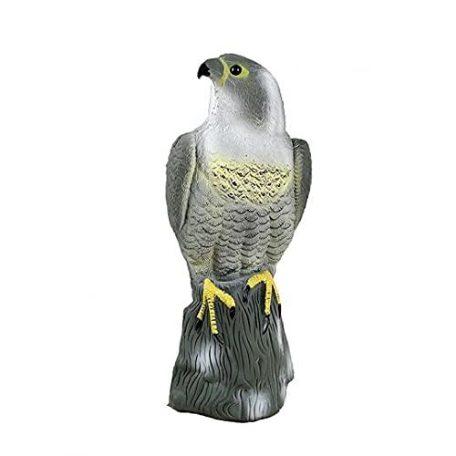 Runfon Artificial Falcon Decoy to Scare Birds Away Scarecrow Bird Repeller to Keep Control Squirrel Rabbits Away Garden