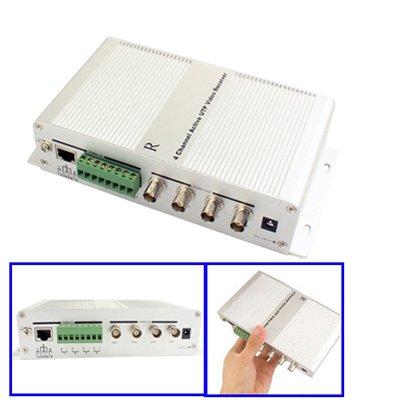 GJPAJGID Bewakingscamera RJ45-bus 4-kanaals actieve BNC-stekker UTP video-ontvanger