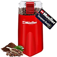 Mueller Austria HyperGrind Precision Electric Spice/Coffee Grinder Mill with Large Grinding Capacity and HD Motor also for Spices, Herbs, Nuts, Grains, Red
