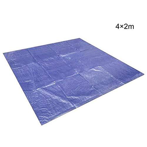 CNMZ Shade ClothWaterproof Swimming Pool Cover Sunscreen Pool Mat Foldable Portable Swimming Pool Ground Mat Thickening Rain Cover Shade Cloth,4x2m