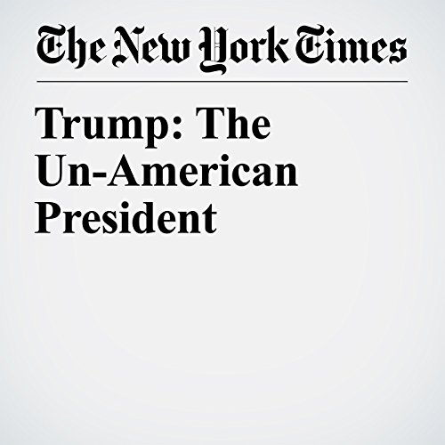 Trump: The Un-American President copertina