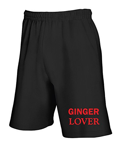 Jogginghose Shorts Schwarz TR0052 Ginger Lover 25mm 1 Pin Badge Button Humour Joke Fun Hair