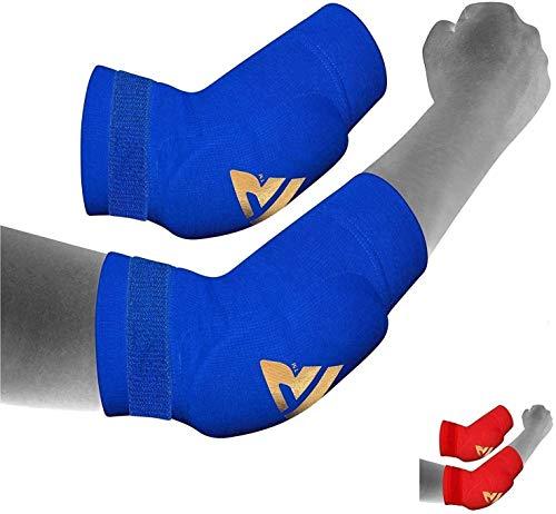 RDX - Codera para MMA, deportes de contacto, musculación o tendinitis, color azul, tamaño X-Large