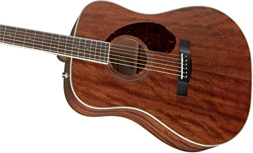 Fender Paramount PM-1 Acoustic Guitar - All-Mahogany - Dreadnought Body Style - Ovangkol Fingerboard - With Case