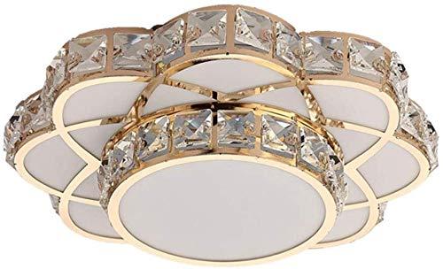 Lámpara de techo, Moderna 12W LED Luces de techo de oro y metal de oro y cristal diseño de forma de baño luz de techo 6000k Lámpara de techo de luz blanca fría Descripción Balcón de oficina Entrada de