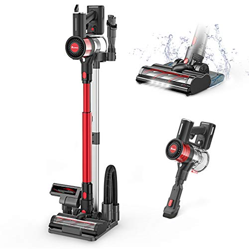 Cordless Vacuum, Lightweight Vacuum Cleaner and Mop, 5 in 1 Stick Handheld Vacuum with Floor Stand, Powerful Suction for Household Multi-Flooring Deep Clean