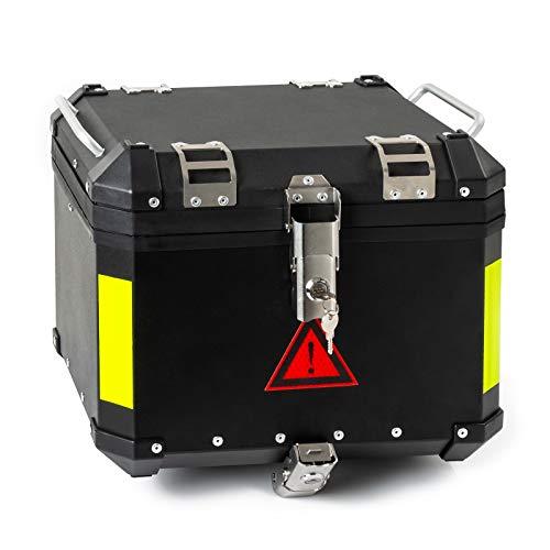 Heckbox Motorradbox A-PRO Aluminium 45L Schwarz