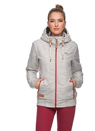 Ragwear NUGGIE SLUB Damen Frauen Kapuzenjacke, Bündchen, wasserdicht,Regular Fit,White(7000), L