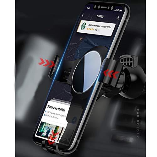 JKYQ Gravity Spiegel abs Halter Navigation Handy Luftauslass Halterung Autohalterung Faule Standhalter kompatibel mit Apple-Handys Huawei Samsung