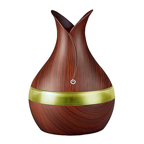 Fesjoy 300 ml Luftbefeuchter USB-Luftverteiler Aromatherapiegerät mit ätherischen Ölen und siebenfarbigem Licht Compatible with das Büro im Schlafzimmer zu Hause